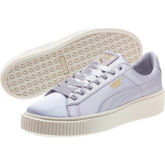d220937a2455 PUMA Basket Platform Satin Sneakers Shoe Creepers